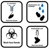 Set of Wash your hands icons Stock Photography