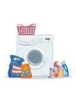 Set of washing Stock Photo