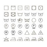 Set of washing symbols Royalty Free Stock Photos