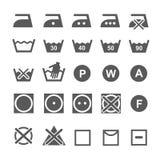 Set of washing symbols. Laundry icons isolated on Royalty Free Stock Photos