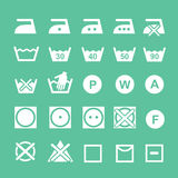 Set of washing   symbols Washing instruction Royalty Free Stock Image