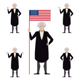 Set of Washington flat icons Royalty Free Stock Photo