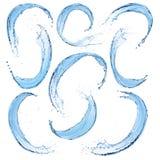 Set Wasser spritzt Lizenzfreies Stockfoto