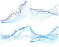 Set Wasserhintergrund stock abbildung