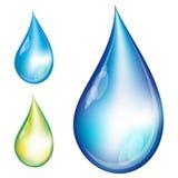 Set Wassertropfen. vektor abbildung