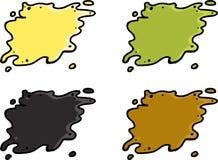 Set of Waste Spills. Set of various waste spills over white background Stock Photo