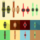 Set of watch model Royalty Free Stock Photography