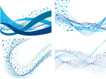 Set of water background Royalty Free Stock Images