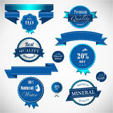 Set of water badges Royalty Free Stock Photography