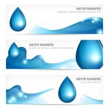 Set of water banners Royalty Free Stock Photography