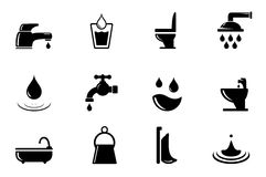 Set of water and bathroom object Royalty Free Stock Photography
