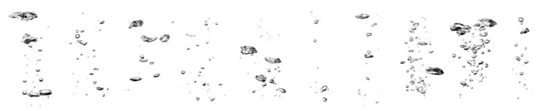 Free Set Water Bubble Black Oxygen Air, In Underwater Clear Liquid With Bubbles Flowing Up On The Water Surface Stock Photos - 210696173