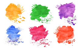 Set water-color elements for design royalty free stock photo