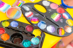 Set of water-colours Stock Photos