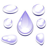 Set of water drops. Stock Images