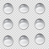Set of water drops Vector illustration. Stock Image