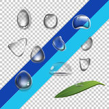 Set water drops Stock Images