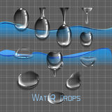 Set water drops Stock Photography