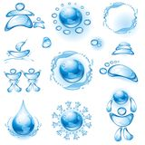 Set of water icons. Stock Images