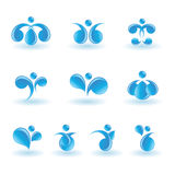 Set of water icons royalty free illustration