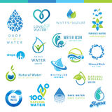 Set of water icons Royalty Free Stock Photo