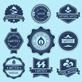 Set of water labels, badges and stickers Royalty Free Stock Photos