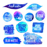 Set of water labels Royalty Free Stock Image