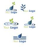 Set water logo. Stock Photos