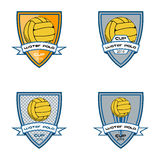 Set water polo logo for the team and the cup Royalty Free Stock Image