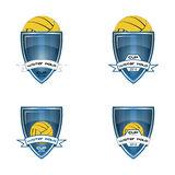Set water polo logo for the team and the cup Royalty Free Stock Images