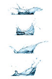 Set of Water Splashes Isolated on White Stock Images