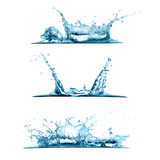 Set of Water Splashes stock illustration