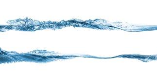Set of water splashing royalty free stock images