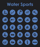 Set of water sports simple icons Royalty Free Stock Photos
