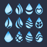 Set of water symbols Royalty Free Stock Image