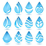 Set of water symbols Stock Images