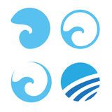 Set of Water wave logos. Vector illustration Stock Photo