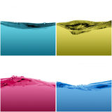 Set of water waves. Isolated on a white background Royalty Free Stock Photos