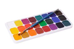 Set of watercolor Royalty Free Stock Image