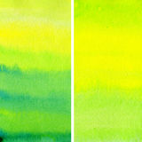 Set of watercolor abstract backgro Royalty Free Stock Photo