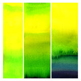 Set of watercolor abstract painted backgrounds Stock Image