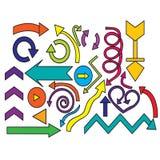 Set watercolor arrows hand-painted design elements Stock Image