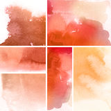 Set of watercolor backgrounds Royalty Free Stock Photography