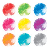 Set of watercolor backgrounds. abstract splashes, vector  Stock Photo