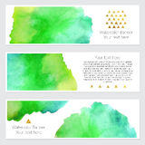 Set of watercolor backgrounds. Collection of colorful watercolor backgrounds. Set of watercolor blots isolated on white background for your design, cards Royalty Free Stock Photography