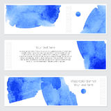 Set of watercolor backgrounds. Collection of colorful watercolor backgrounds. Set of watercolor blots isolated on white background for your design, cards Stock Photo