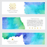 Set of watercolor backgrounds. Collection of colorful watercolor backgrounds. Set of watercolor blots isolated on white background for your design, cards Royalty Free Stock Photo