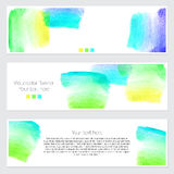 Set of watercolor backgrounds. Collection of colorful watercolor backgrounds. Set of watercolor blots isolated on white background for your design, cards Royalty Free Stock Image
