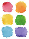 Set of watercolor backgrounds Stock Photography