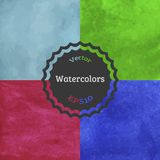 Set of watercolor backgrounds Royalty Free Stock Photos